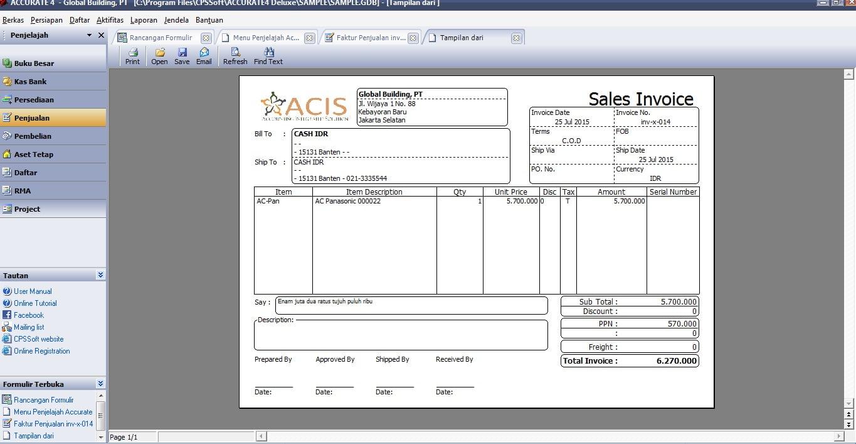 menambah logo perusahaan pada template faktur penjualan di