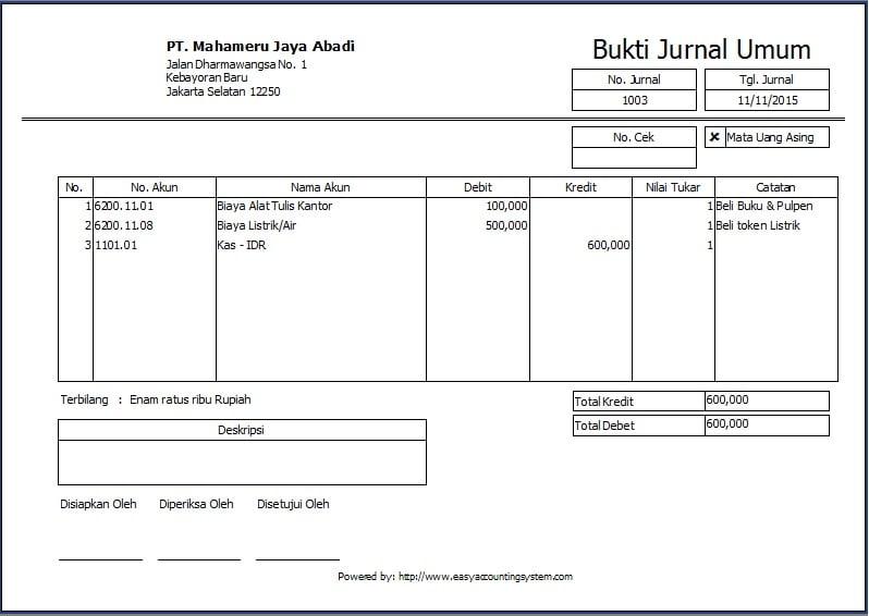 Software Akuntansi Jurnal Umum Acis Indonesia