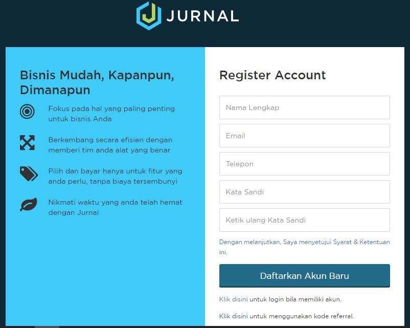 Sign Up Software Akuntansi Online Jurnal 1