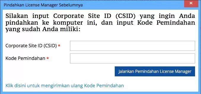 Memindahkan ACCURATE License Manager 2