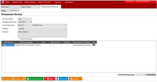 Cara melakukan stok opname di Easy Accounting 5