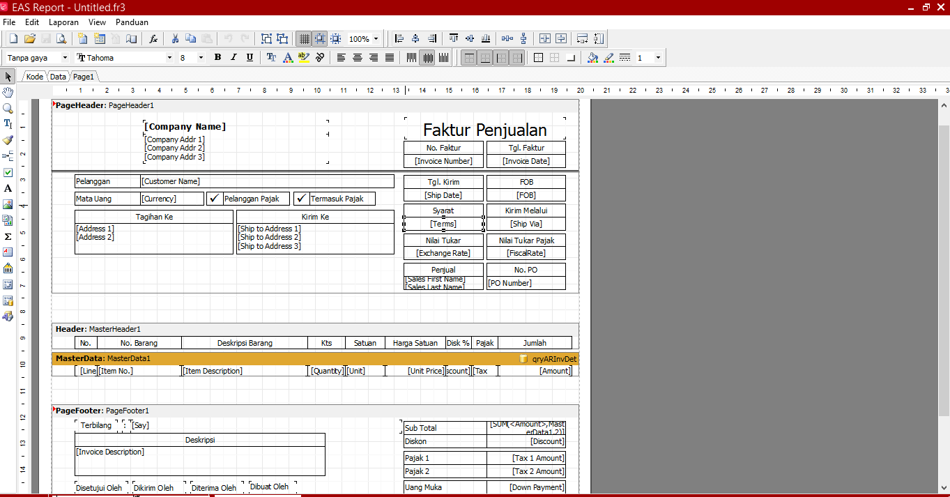 Cara Sederhana Setting Rancangan Formulir di Easy Accounting 5