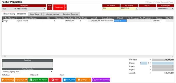 Sistem Easy Accounting Untuk Kontraktor