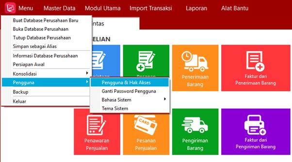Fitur pengguna dan hak akses easy accounting 5